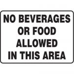 """Accuform MHSK597XT10, 10″ x 14″ Safety Sign """"No Beverages …"""""""