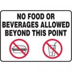 """Accuform MHSK598VA10, 10″ x 14″ Safety Sign """"No Food Or Beverages …"""""""