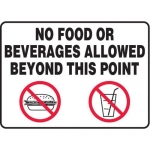 """Accuform MHSK598XT, 10″ x 14″ Safety Sign """"No Food Or Beverages …"""""""