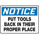 """Accuform MHSK806VA, 10″ x 14″ Safety Sign """"Put Tools Back In …"""""""