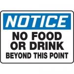 "Accuform MHSK813VA10, 10″ x 14″ Safety Sign ""No Food Or Drink …"""