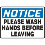 "Accuform MHSK817XT10, 7″ x 10″ Safety Sign ""Please Wash Hands …"""