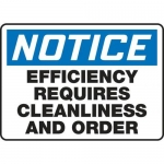 """Accuform MHSK818XV10, 10″ x 14″ Safety Sign """"Efficiency Requires …"""""""