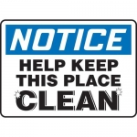 """Accuform MHSK820VA, 10″ x 14″ Safety Sign """"Help Keep This Place …"""""""