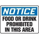 "Accuform MHSK825VA10, 10″ x 14″ Safety Sign ""Food Or Drink …"""