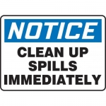 """Accuform MHSK835XT10, 7″ x 10″ Safety Sign """"Clean Up Spills …"""""""