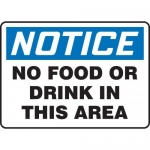 """Accuform MHSK838VA10, 10″ x 14″ Safety Sign """"No Food Or Drink In …"""""""