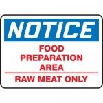 "Accuform MHSK840XT10, 10″ x 14″ Safety Sign ""Food Preparation …"""