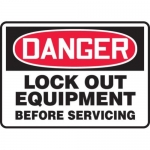 """Accuform MLKT007VP10, 7″ x 10″ Safety Sign """"Lock Out Equipment …"""""""