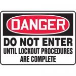 "Accuform MLKT013VS, 10″ x 14″ Safety Sign ""Do Not Enter …"""