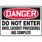 "Accuform MLKT013VS10, 10″ x 14″ Safety Sign ""Do Not Enter …"""