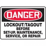 """Accuform MLKT017VS, 10″ x 14″ Safety Sign """"Lockout/Tagout Before …"""""""