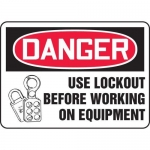 """Accuform MLKT018XV, 10″ x 14″ Safety Sign """"Use Lockout …"""""""