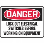 """Accuform MLKT019VP10, 10″ x 14″ Safety Sign """"Lock Out Electrical …"""""""