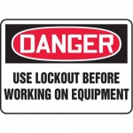 """Accuform MLKT021XV10, 7″ x 10″ Safety Sign """"Use Lockout Before …"""""""