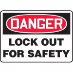 """Accuform MLKT102VP10, 7″ x 10″ Safety Sign """"Lock Out For Safety"""""""