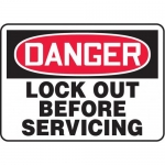 """Accuform MLKT103VP10, 7″ x 10″ Lockout/Tagout Sign """"Lock Out …"""""""