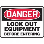 """Accuform MLKT106XV10, 7″ x 10″ Safety Sign """"Lock Out Equipment …"""""""