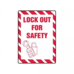 """Accuform MLKT504VP10, 14″ x 10″ Safety Sign """"Lock Out For Safety"""""""