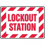 "Accuform MLKT510XT, 10″ x 14″ Safety Sign ""Lockout Station"""