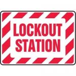 "Accuform MLKT510XV10, 10″ x 14″ Safety Sign ""Lockout Station"""