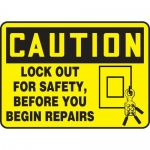 """Accuform MLKT601VP10, 7″ x 10″ OSHA Safety Sign """"Lock Out For Safety"""""""