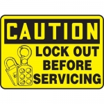 """Accuform MLKT606VP10, 10″ x 14″ Safety Sign """"Lock Out Before …"""""""