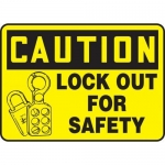 """Accuform MLKT608VP10, 10″ x 14″ Safety Sign """"Lock Out For Safety"""""""