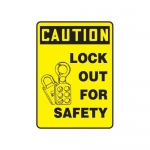 """Accuform MLKT609VP10, 10″ x 7″ Safety Sign """"Lock Out For Safety"""""""