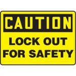 """Accuform MLKT611VP10, 7″ x 10″ OSHA Safety Sign """"Lock Out For Safety"""""""