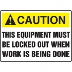 """Accuform MLKT618VP10, 10″ x 14″ Safety Sign """"This Equipment Must …"""""""