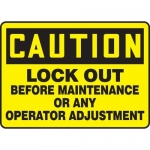 """Accuform MLKT620VP10, 10″ x 14″ Safety Sign """"Lock Out Before …"""""""