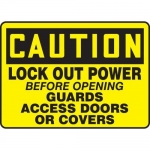 """Accuform MLKT625VP, 10″ x 14″ Safety Sign """"Lock Out Power …"""""""