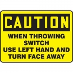 """Accuform MLKT626XV, 10″ x 14″ Safety Sign """"When Throwing Switch …"""""""