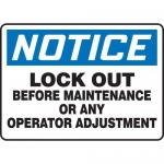 """Accuform MLKT804VP10, 10″ x 14″ Safety Sign """"Lock Out Before …"""""""