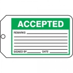 "Accuform MMT301CTP, Safety Tag ""Accepted"""