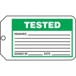 "Accuform MMT302CTP, Safety Tag ""Tested"""