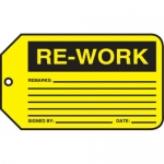 "Accuform MMT306CTP, Safety Tag ""Re-Work"""