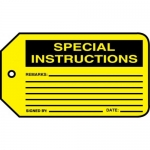 "Accuform MMT307CTP, Safety Tag ""Special Instructions"""