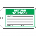 "Accuform MMT309CTP, Safety Tag ""Return To Stock"""