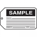 "Accuform MMT312CTP, Safety Tag ""Sample"""