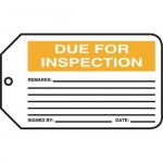 "Accuform MMT314CTP, Safety Tag ""Due For Inspection"""