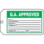 "Accuform MMT324CTP, Safety Tag ""Q.A. Approved"""