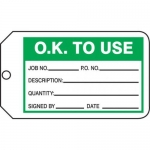 "Accuform MMT325CTP, Safety Tag ""O.K. To Use"""