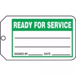 "Accuform MMT327CTP, Safety Tag ""Ready For Service"" PF-Cardstock"