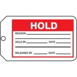 "Accuform MMT328CTP, Safety Tag ""Hold"" PF-Cardstock"