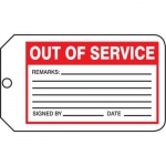 "Accuform MMT329CTP, Safety Tag ""Out Of Service"" PF-Cardstock"