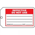 "Accuform MMT332CTP, Safety Tag ""Defective Do Not Use"" PF-Cardstock"