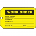 "Accuform MMT335CTP, Safety Tag ""Work Order"" PF-Cardstock"