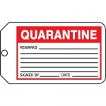 "Accuform MMT339CTP, Safety Tag ""Quarantine"" PF-Cardstock"